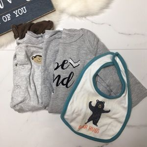 🎉Bundle baby boy bodysuit romper footie B6-39